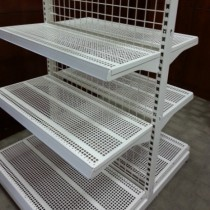 Square Slotted Panel Shelving